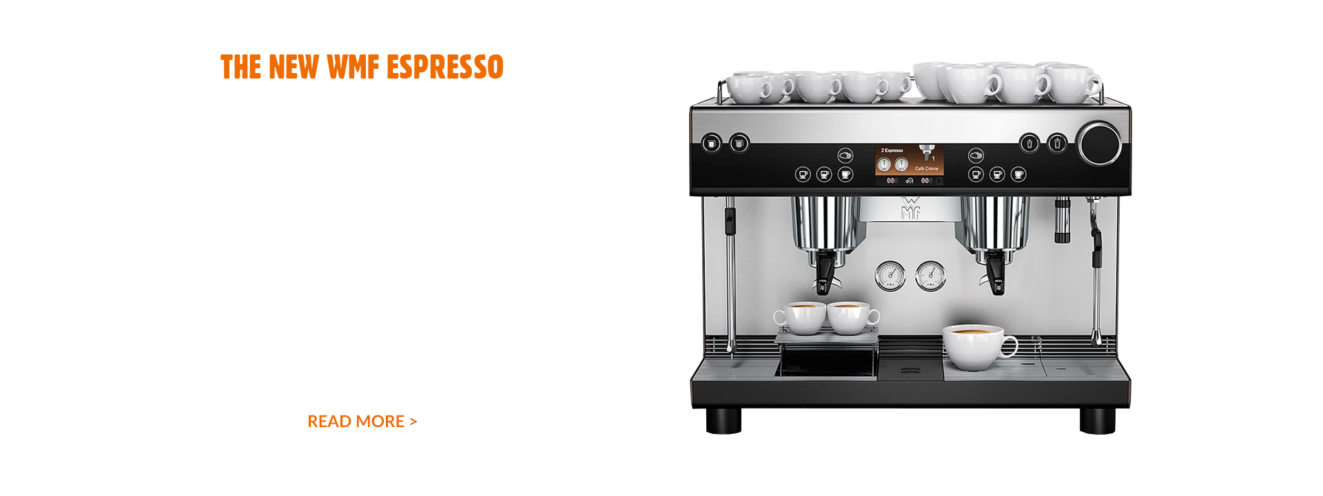 The new WMF espresso. Theatrical coffee without the drama